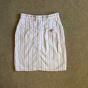 Vintage Guess Jeans Striped Skirt Women's 30